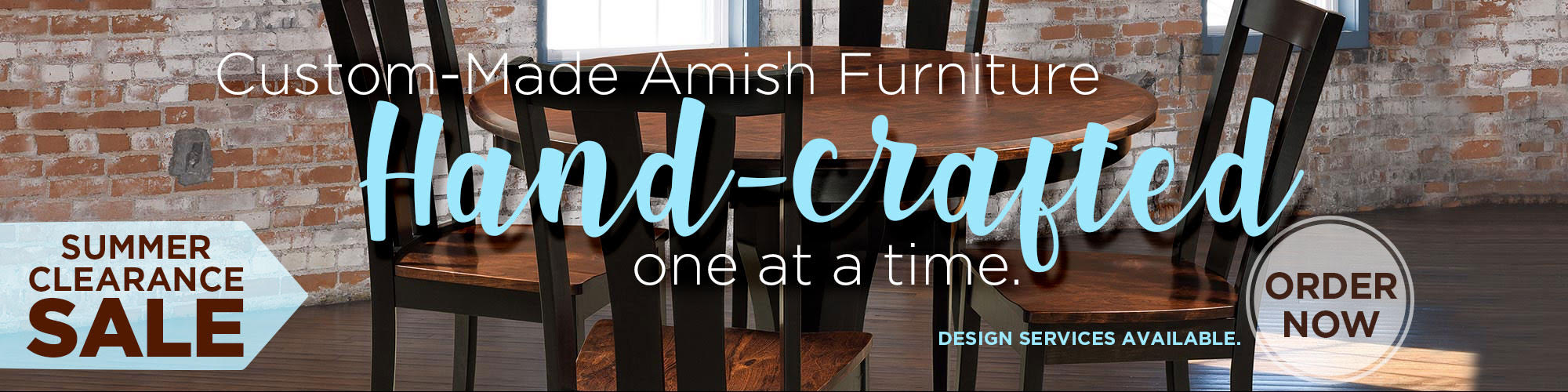Amish Furniture Summer2020 Clearence Sale_website banner